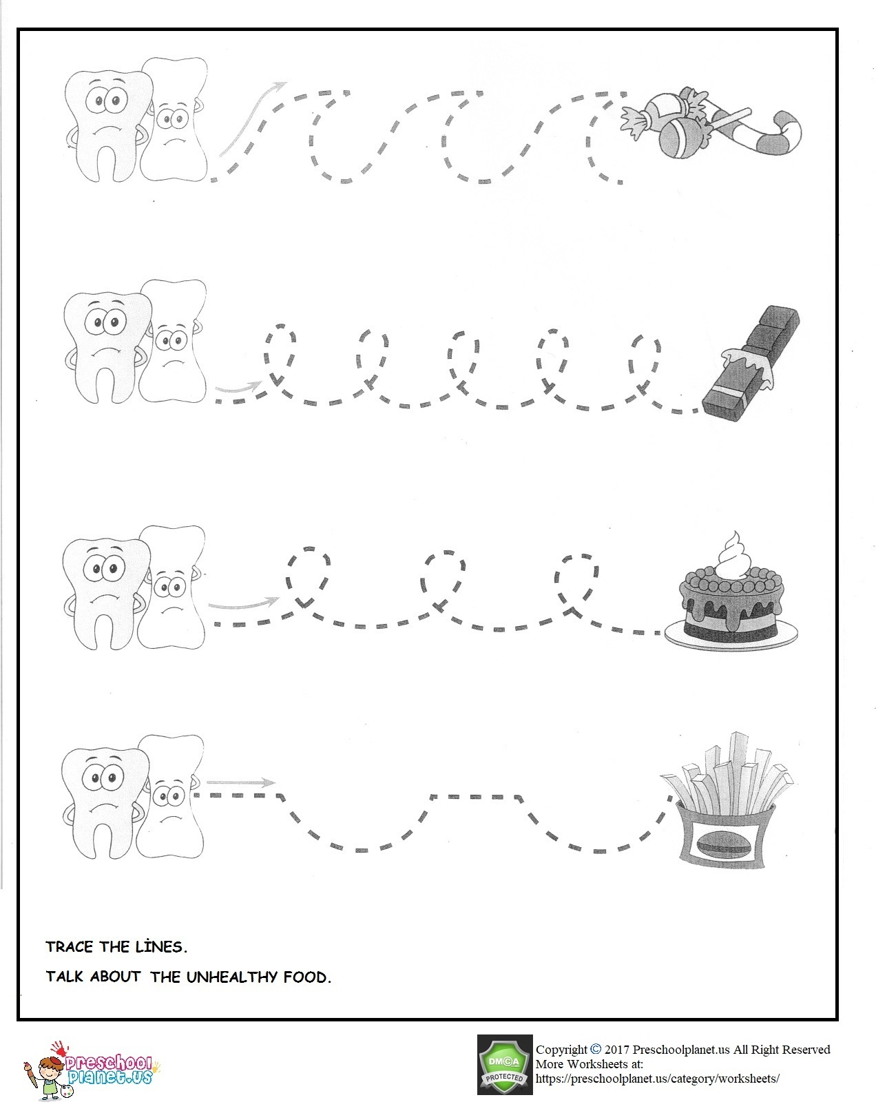 Dental Health Week Worksheet For Preschool Preschoolplanet