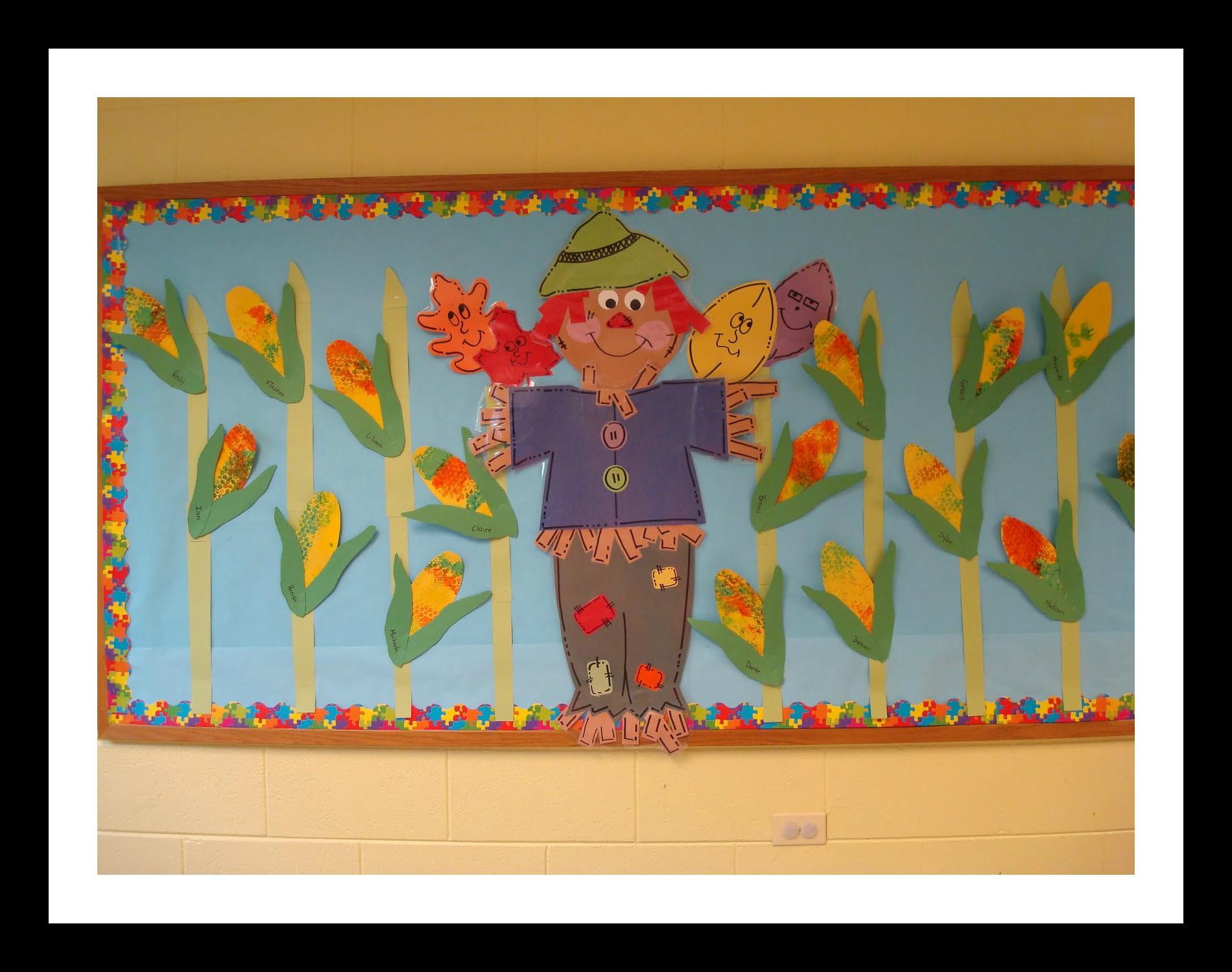 Scarecrow Bulletin Board Idea For Kids Preschoolplanet