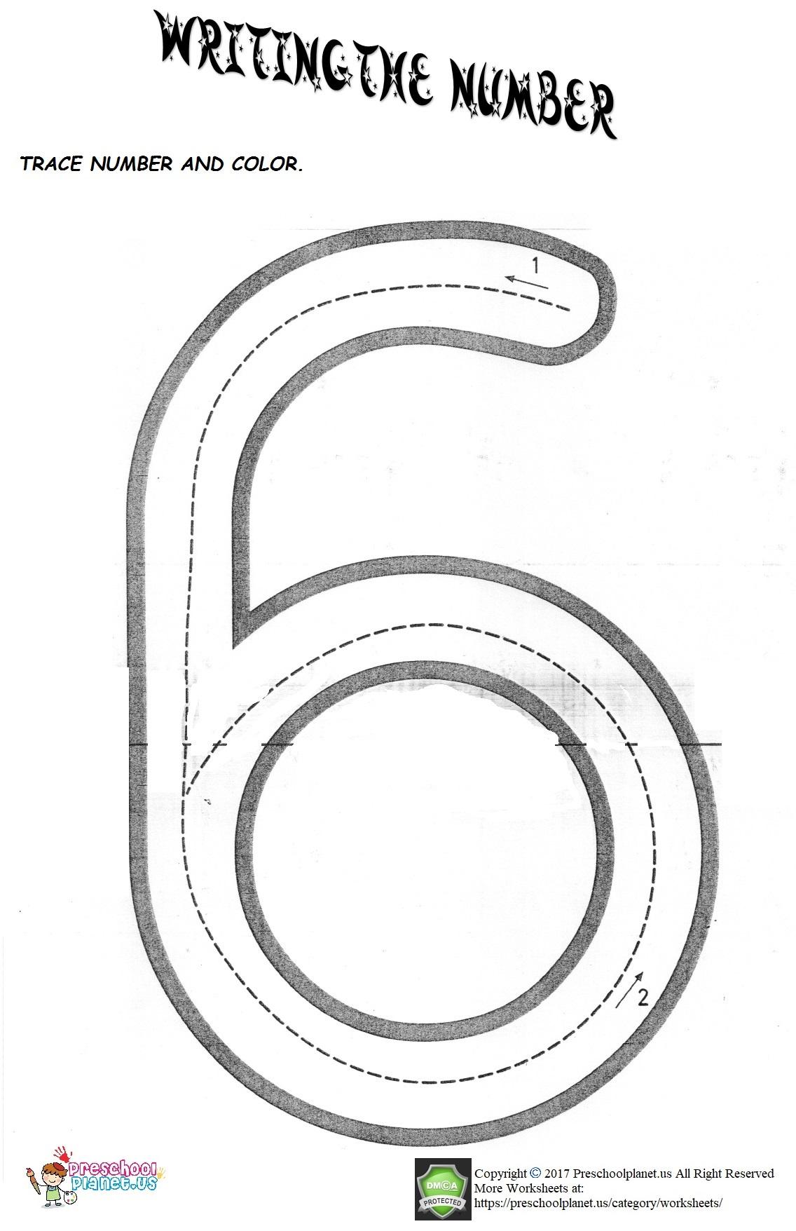 Number 6 Worksheet Preschoolplanet