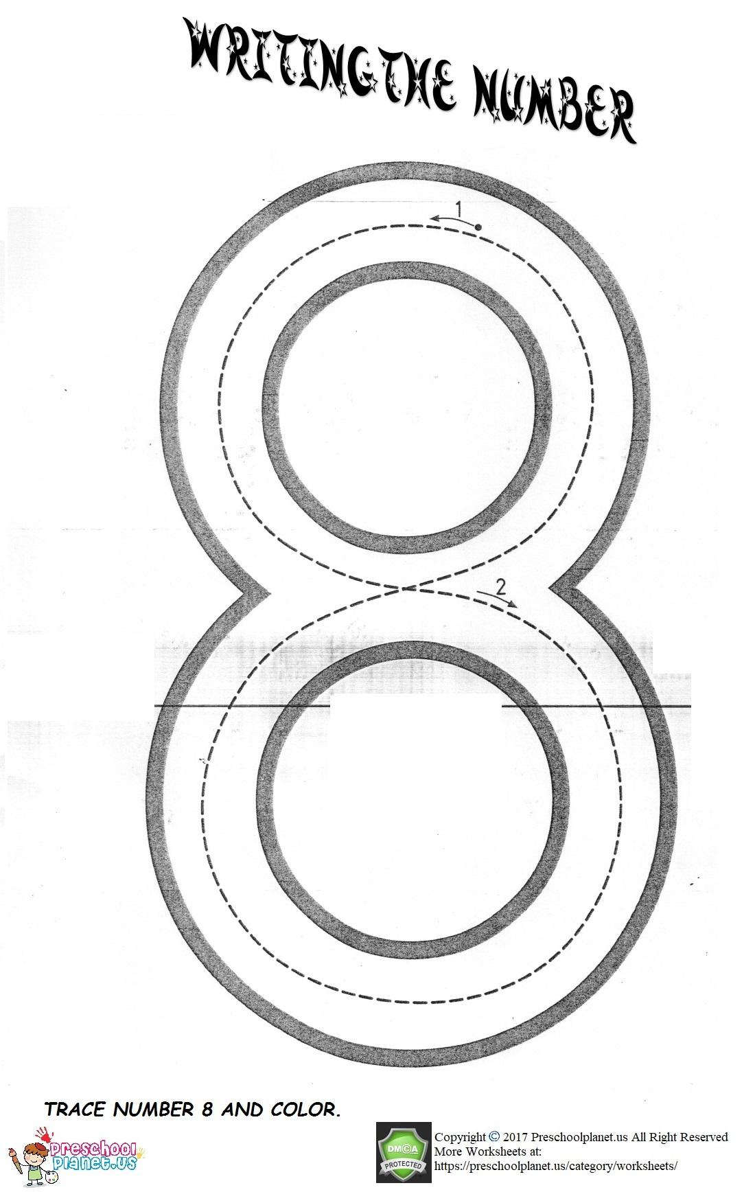 Number 8 Worksheet Preschoolplanet