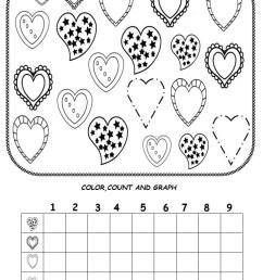 Valentine day graph worksheet – Preschoolplanet [ 1253 x 729 Pixel ]