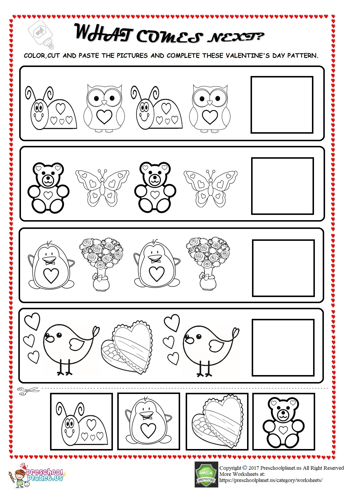Sequencing Patterns Worksheets