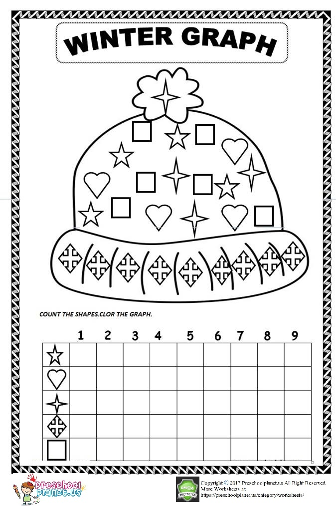 winter graph worksheet for preschool