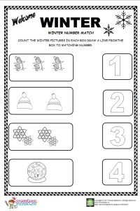 Winter Matching Worksheets For Kindergarten. Winter. Best