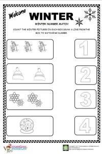 Winter Matching Worksheets For Kindergarten. Winter. Best ...