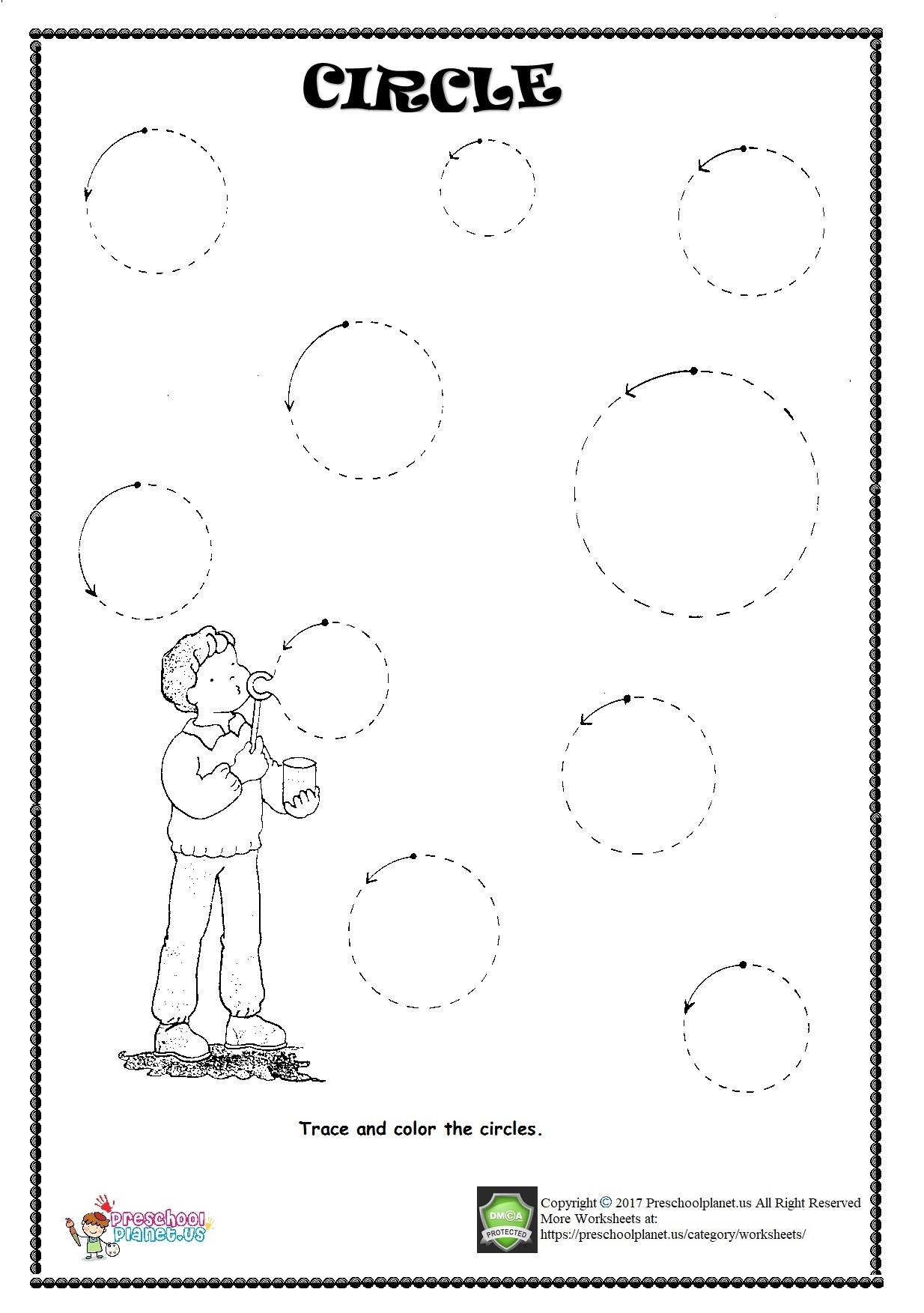 Trace Shape Circle Worksheet