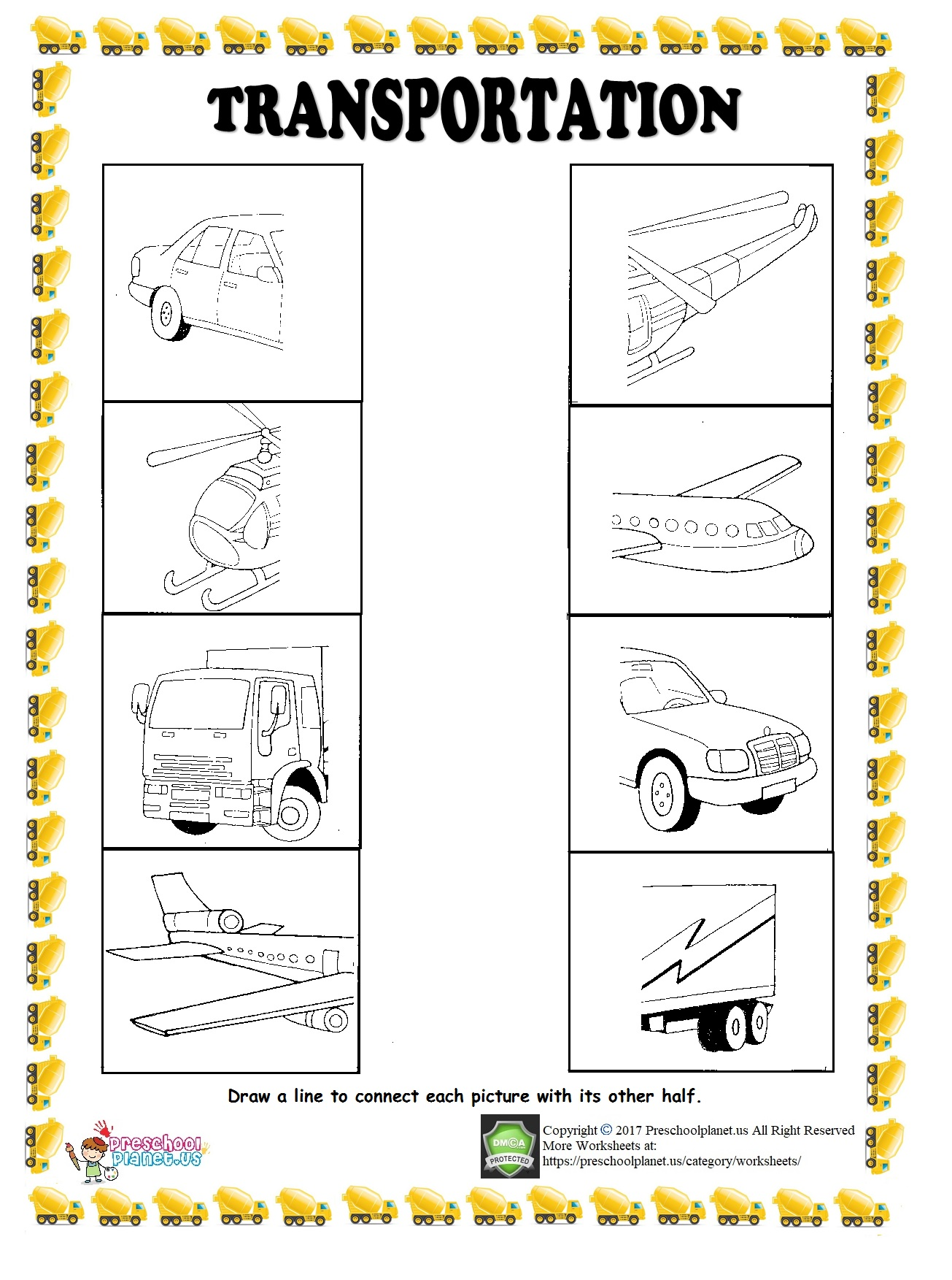 Ship Trace Worksheet Preschoolplanet