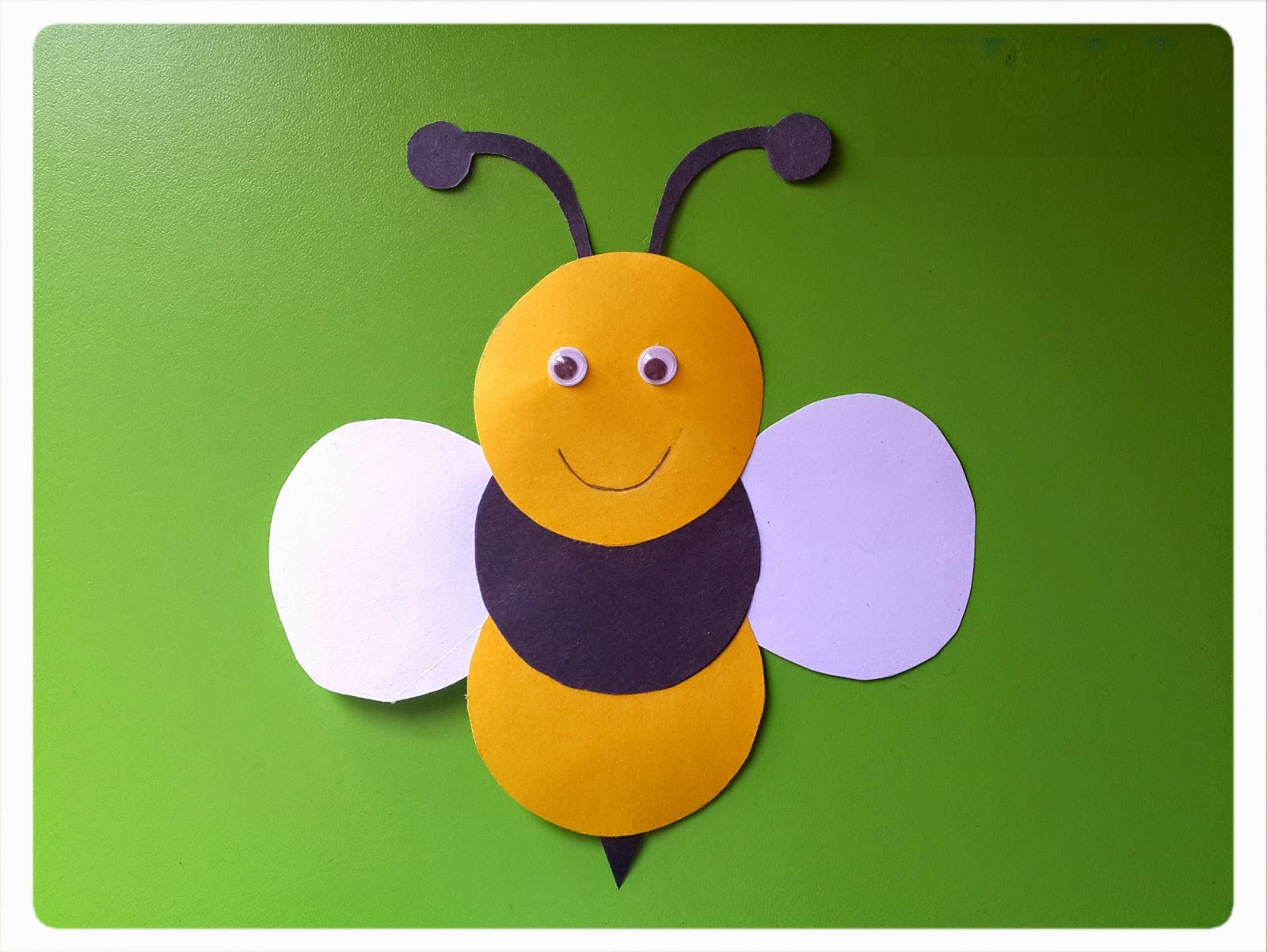 Bee Craft Idea Preschoolplanet