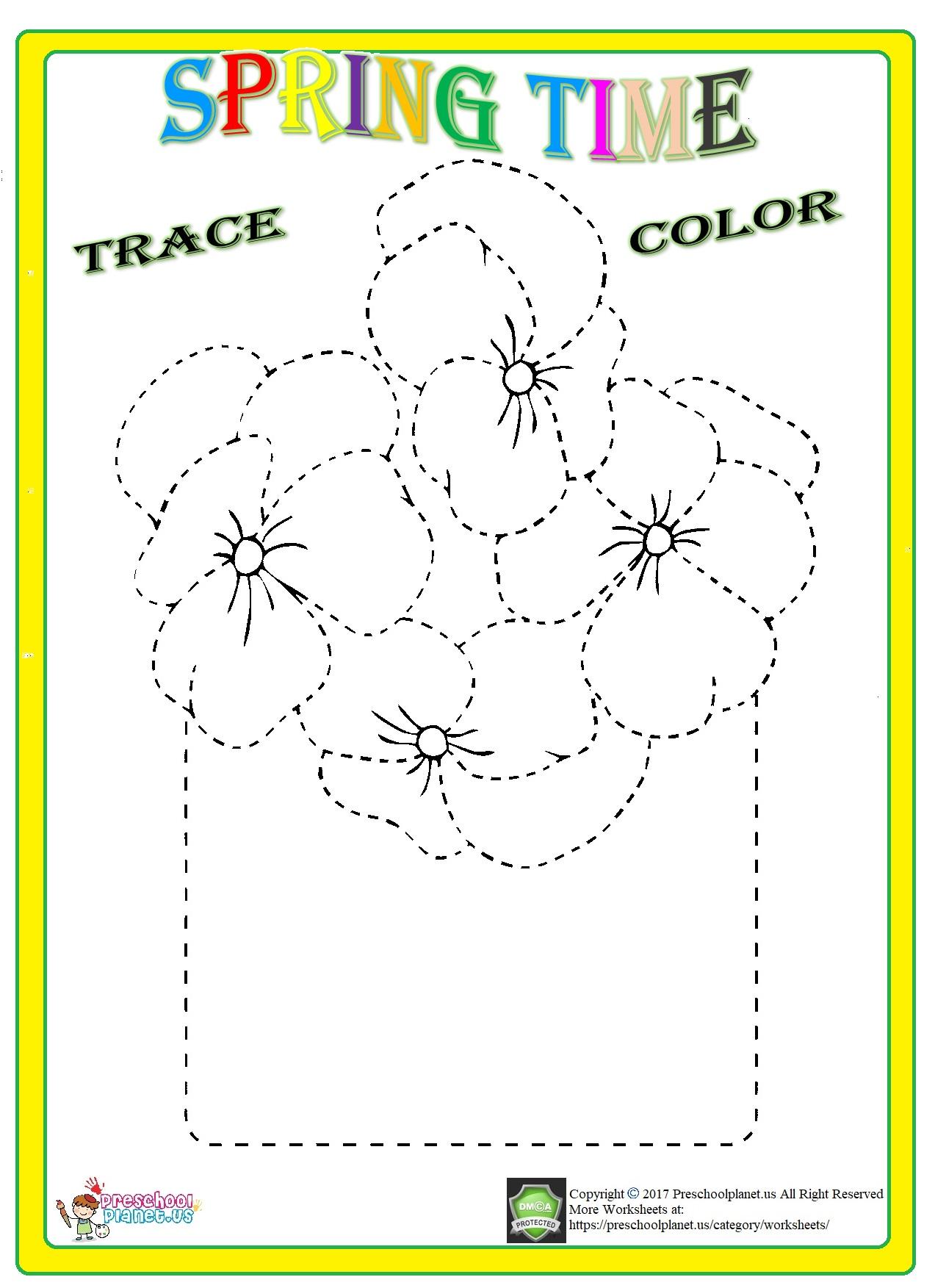 Spring Graph Worksheet For Kids Preschoolplanet