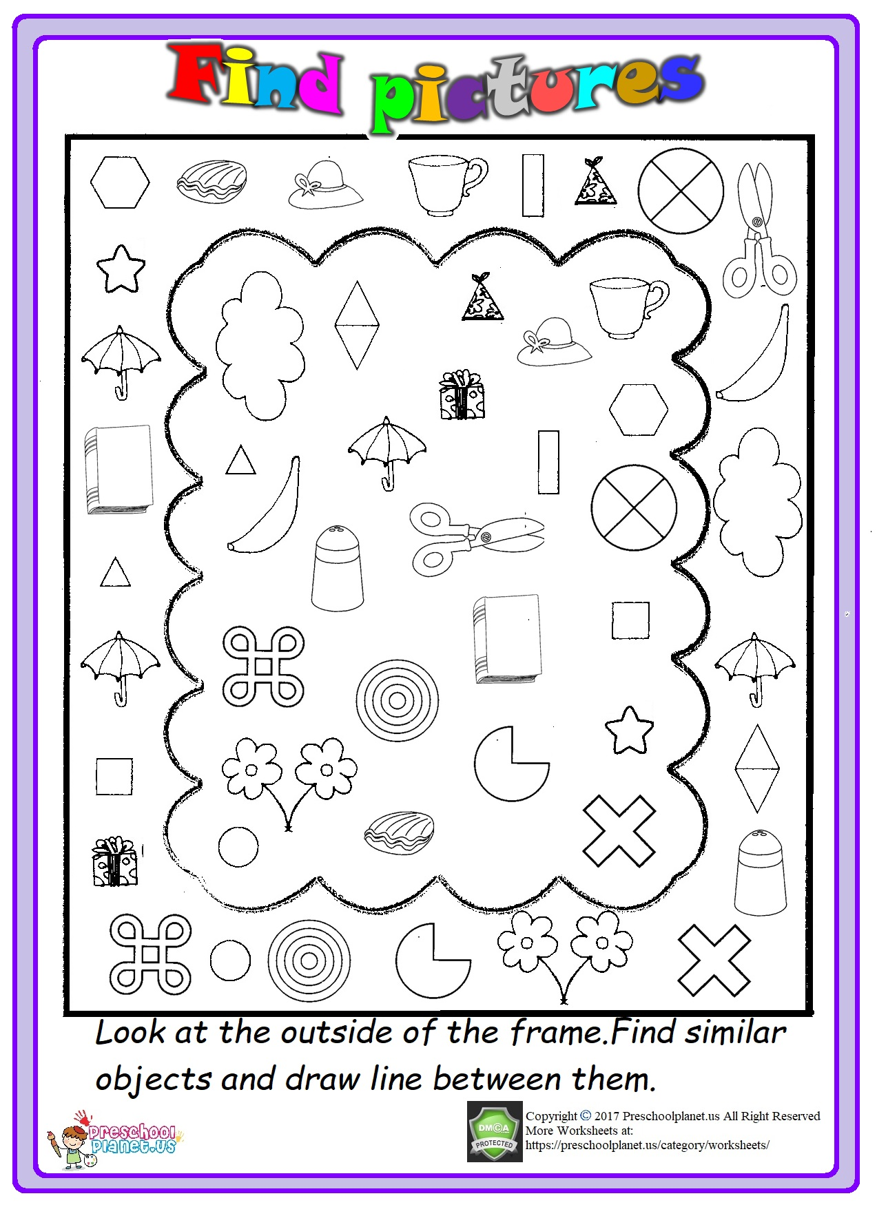 Spring Graph Worksheet For Kids Preschoolplanet