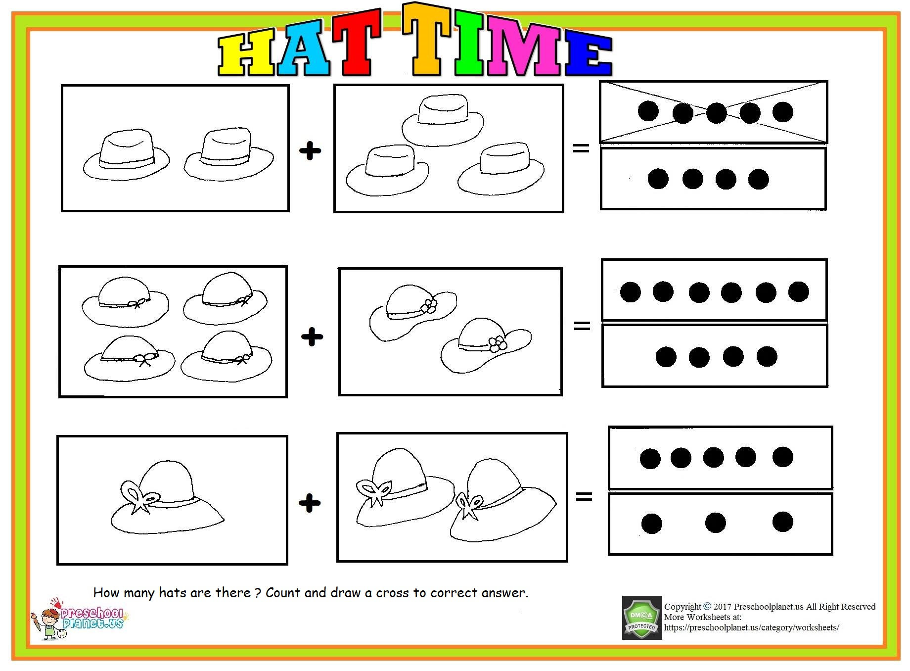 Math Worksheet Page 4 Preschoolplanet