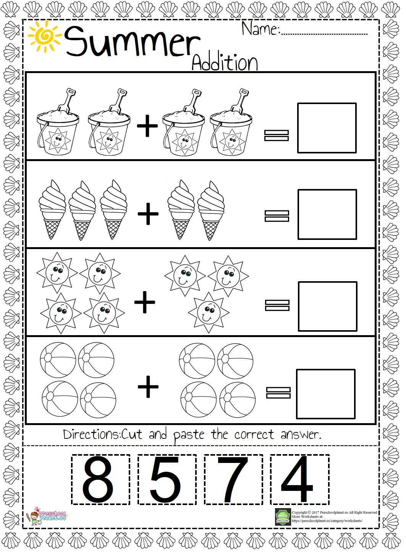 Number Count Worksheet For Preschool Preschoolplanet