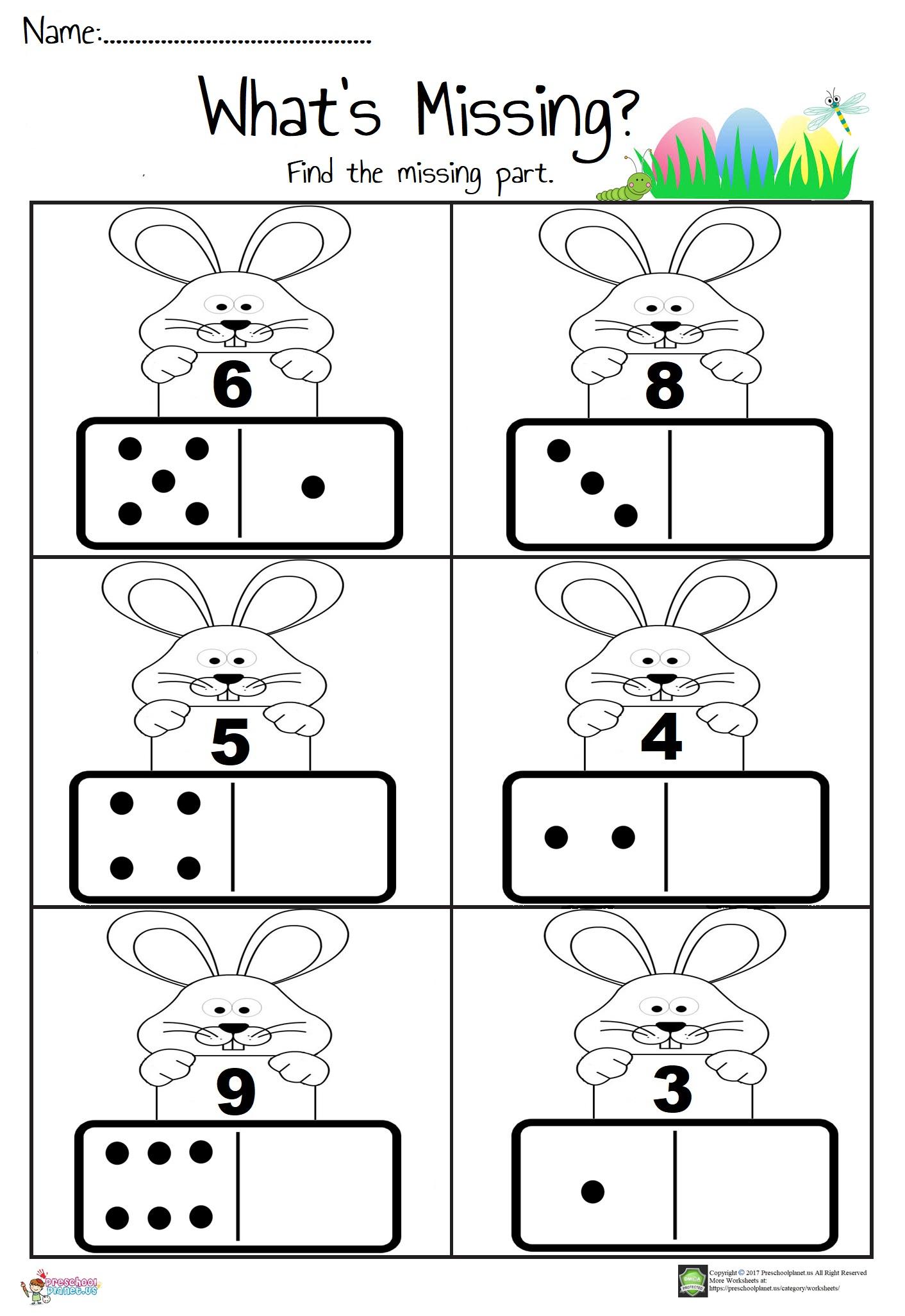 hight resolution of Domino Math Worksheet – Preschoolplanet