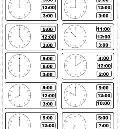 Tell The Time Worksheet first grade – Preschoolplanet [ 1833 x 1307 Pixel ]