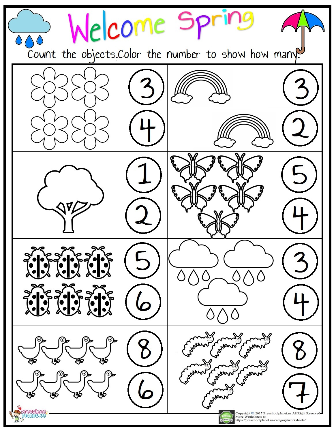 Download Counting Worksheet Preschoolplanet