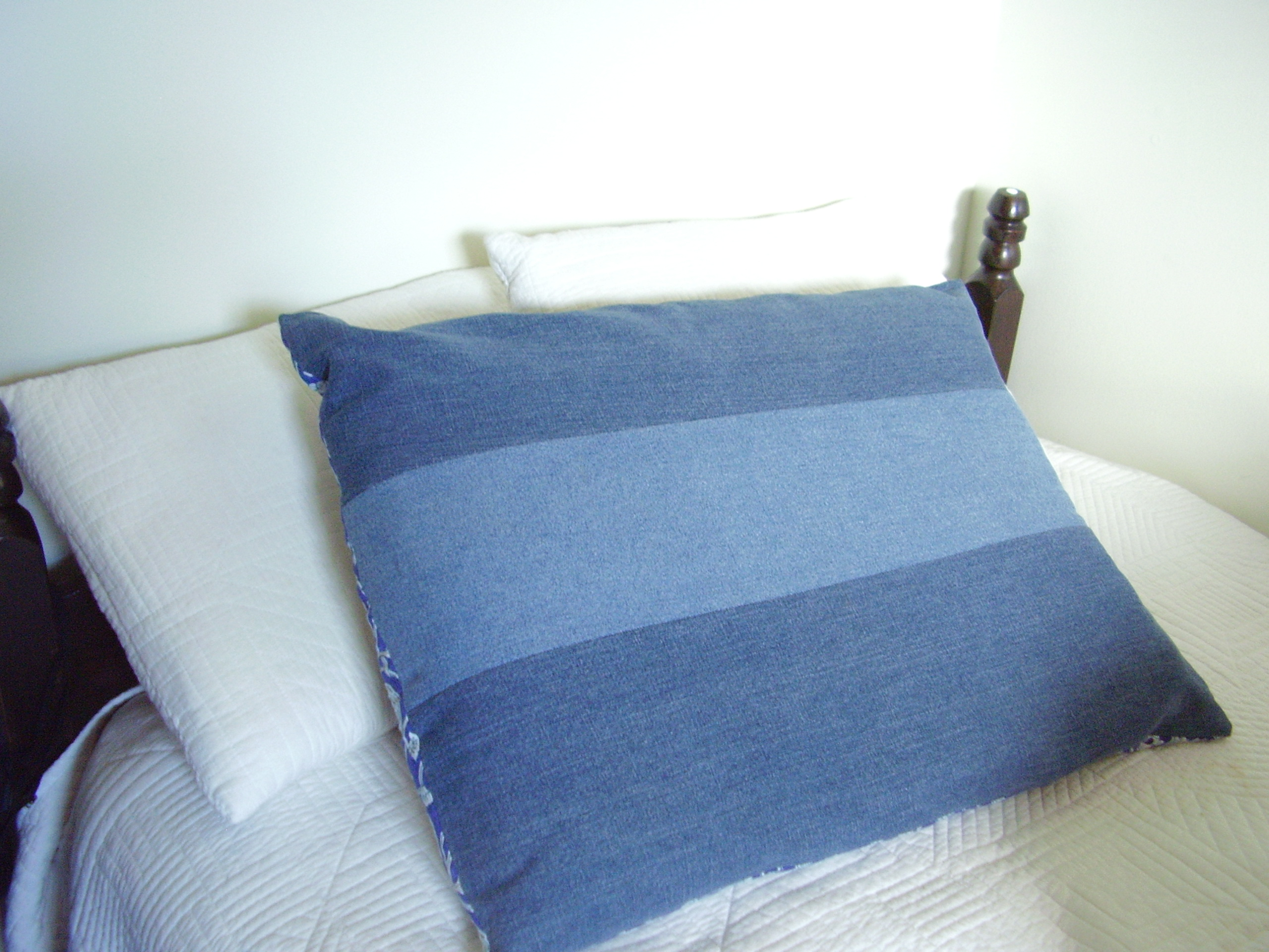 three cushion sofa low profile sofas diy denim pillow cover » preschool toolkit