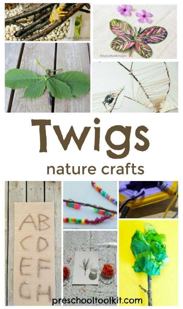 Preschool Nature Crafts and Activities with Twigs » Preschool Toolkit