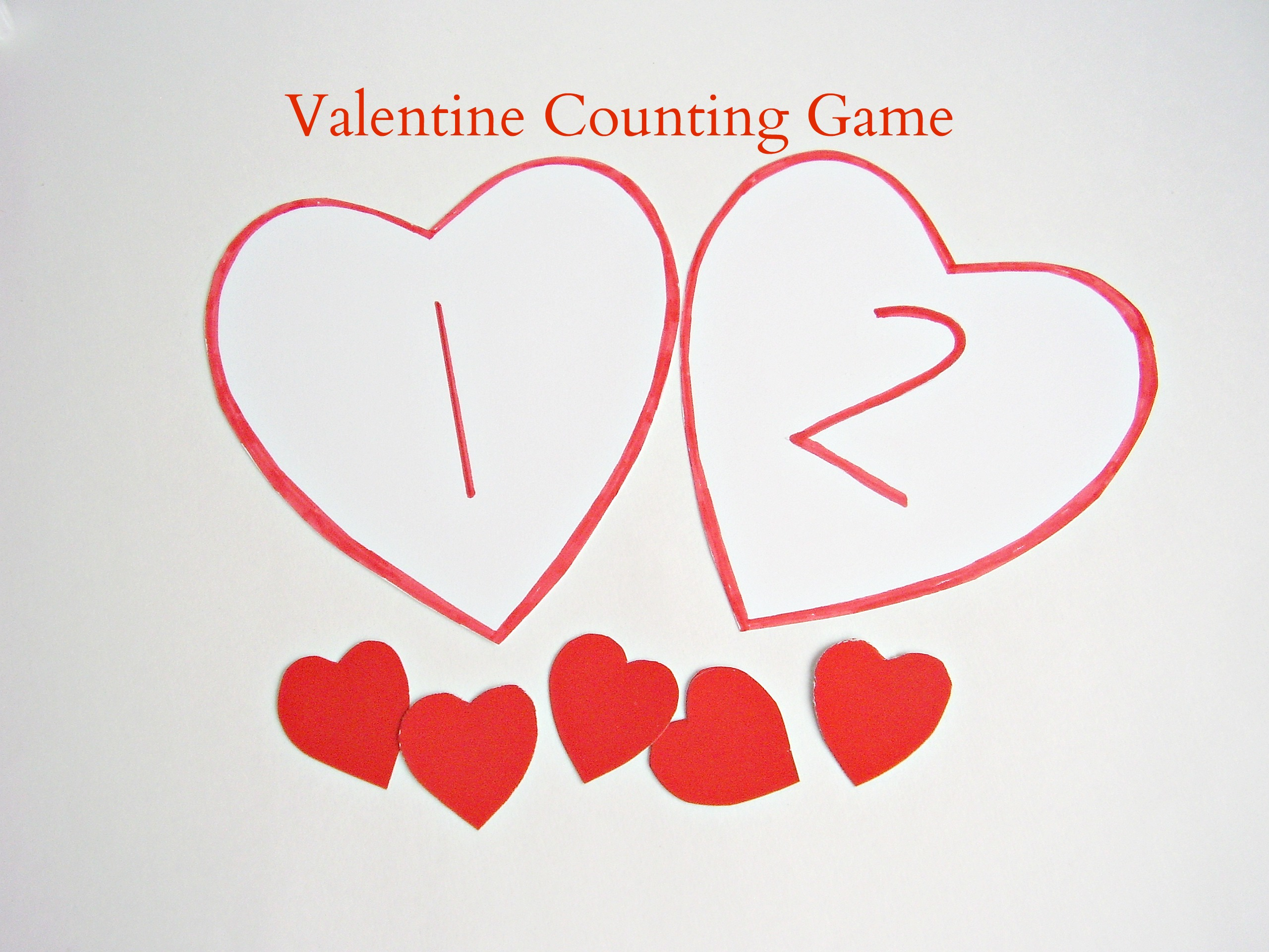 Simple Valentine Counting Game For Kids Preschool Toolkit