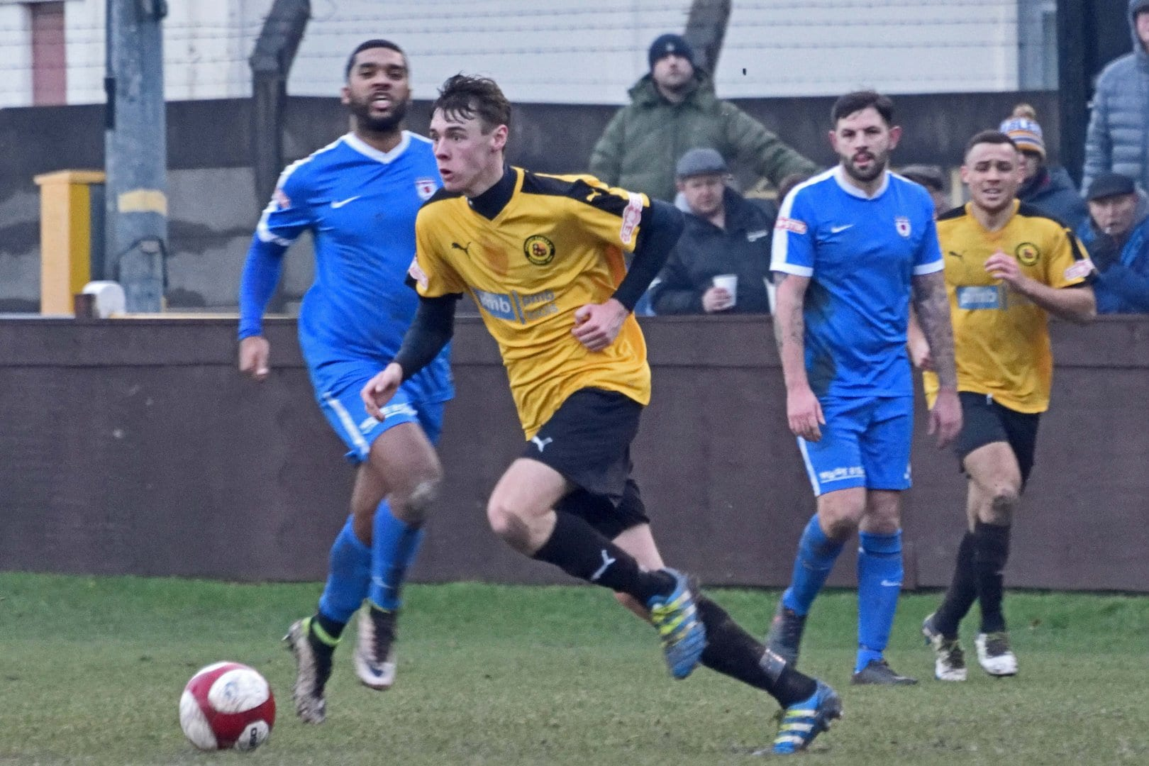 Action from Prescot Cables 1-2 Glossop North End