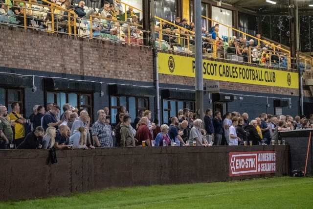 Supporters at Prescot Cables 3-1 Glossop North End