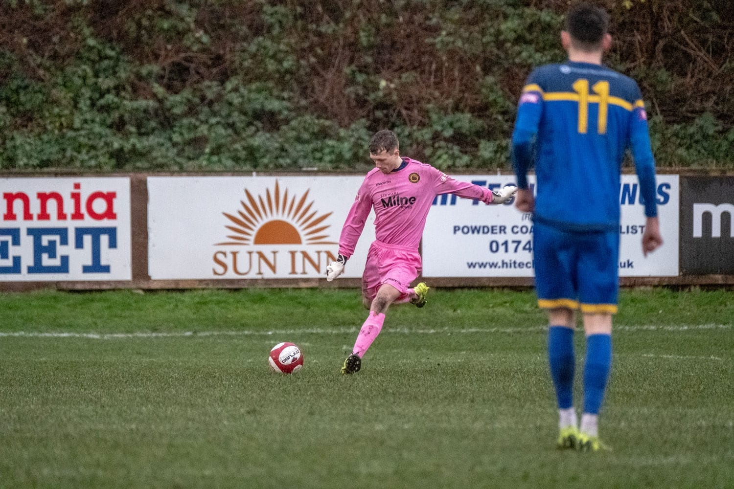 Ollie Taylor in action against Radcliffe