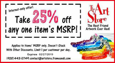 Coupons, Specials and Deals at The Art Store in Prescott