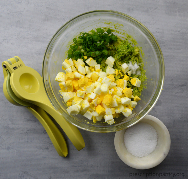 hard boiled eggs lime bowl