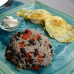 Gallo pinto eggs sour cream