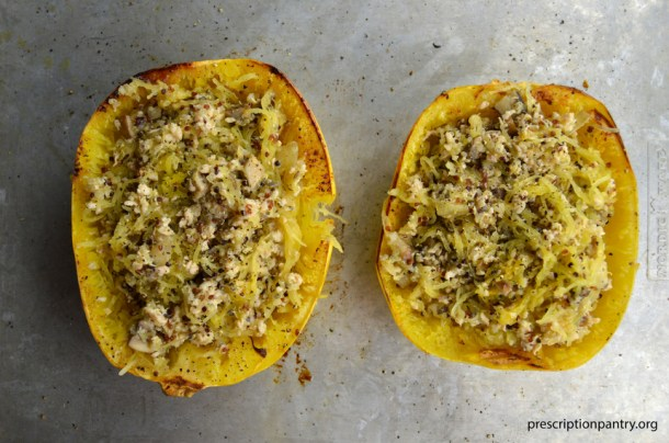stuffed roasted spaghetti squash