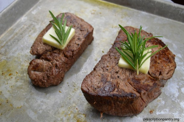 steak butter rosemary