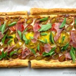 heirloom tomato basil tart