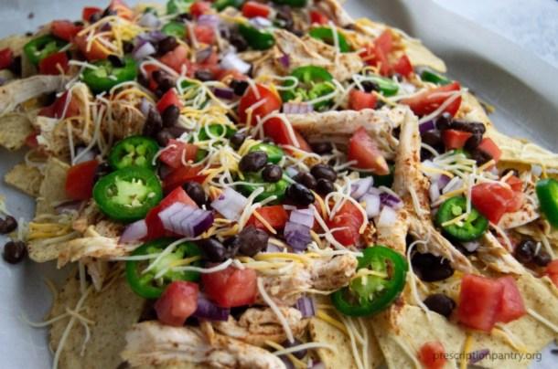 cheese vegetables nachos
