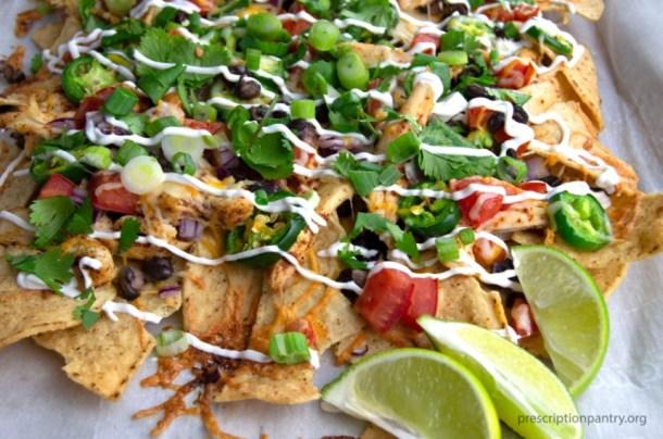 limes nachos sour cream onions