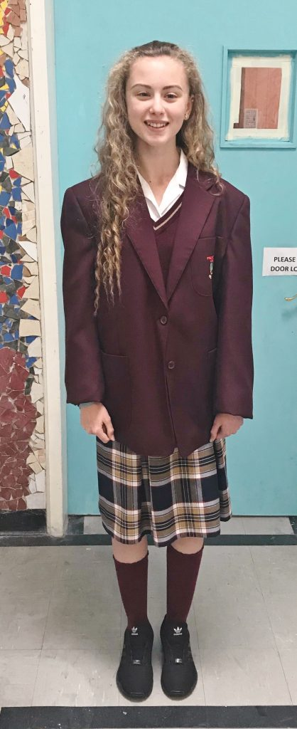 One of our Junior Students Wearing our Junior Uniform
