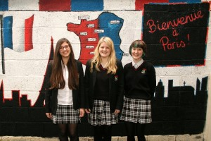 The students who produced this lovely mural are Stella Garritano, Jade Halion & Ruby Attwell
