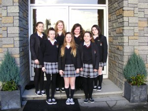 The girls who recorded a Podcast about Nano Nagles life & the founding of the Presentation Sisters Sarah Maloney, Amy Walsh, Ellen Walsh, Stephanie Moriarty. Natasha Cullinane, Alisha Garvey, Emily Moloney