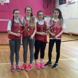 Dunmore team-runners up in the Badminton Doubles Tournament