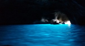 The Blue Grotto sea cave on the island of Capri