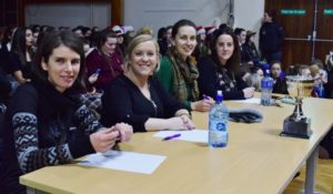 This years 'Pres Got Talent' judges Mrs Clarke, Ms Lohan, Mrs Forde and Ms Hughes