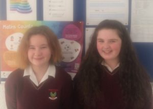 Numeracy Winners for December Lucy Scholze and Emma Lydon