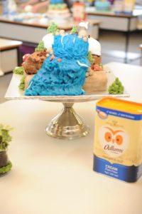 Michaela's novelty cake reflecting the theme of 'Mother Nature'