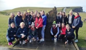 The Fifth year Geography students visiting the Cliffs Of Moher
