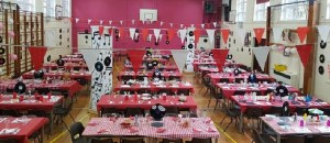 The school gym that all the TY's helped decorate