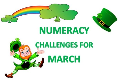 NUMERACY CHALLENGES FOR MARCH