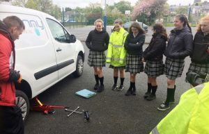 Transition Year students take part in Driver Education classes