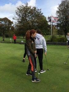 This year's Transition Years are enjoying golfing course with Tuam Golf society