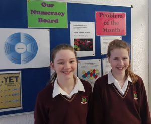 Well done ourNovember numeracy winnersEmma Quigley and Caoimhe McCarthy
