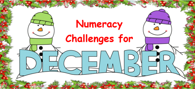 Numeracy Challenge for December