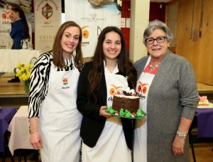 Our talented 5th year student Lora Dimitrova who came 2nd in Ireland in the Senior category of the 5th annual Ceist Bake-Off with judges Odlum's Catherine Leyden and Imelda Mc Carron
