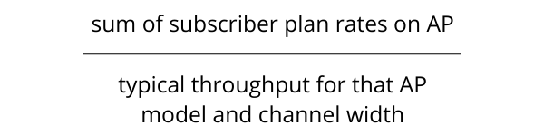WISP Access Point Oversubscription Ratio Calculation Example